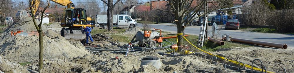 Jó ütemben halad a szennyvízcsatorna hálózat építése