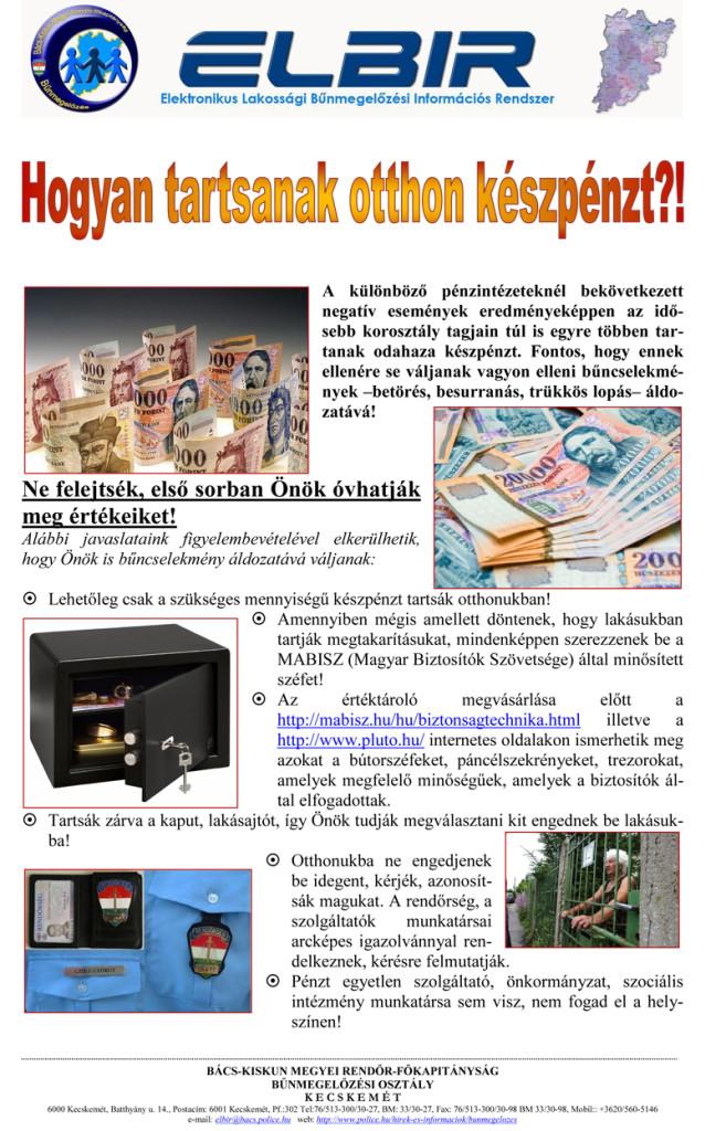 ELBIR – bűnmegelőzési hírlevél – 2015. május