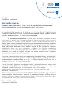 sajtokozlemeny Szabadszallasi SE záró