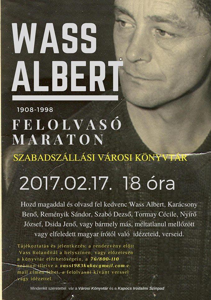 Wass Albert felolvasó maraton