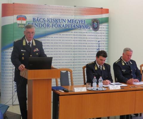 Évet értékelt Bács-Kiskun megye rendőrfőkapitánya