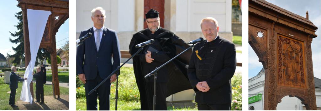 Díszes székelykaput avattak Szabadszálláson Petőfi Sándor tiszteletére