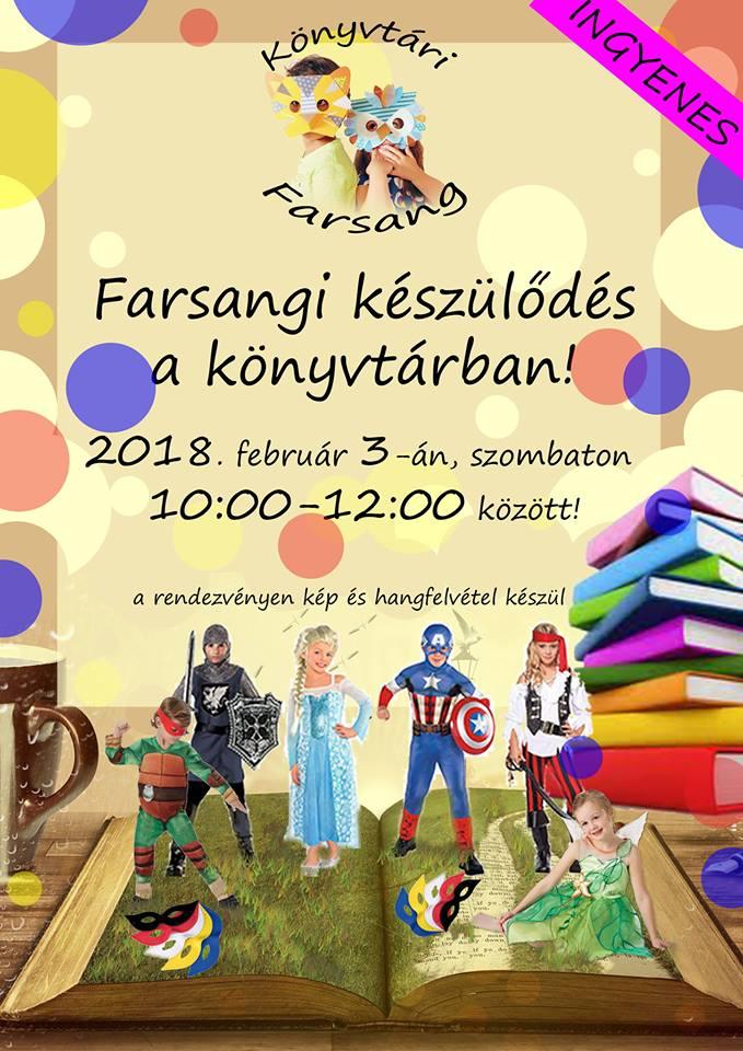 Farsangi program a könyvtárban