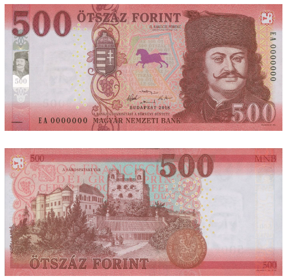 Holnaptól kerül forgalomba az új 500 forintos bankjegy