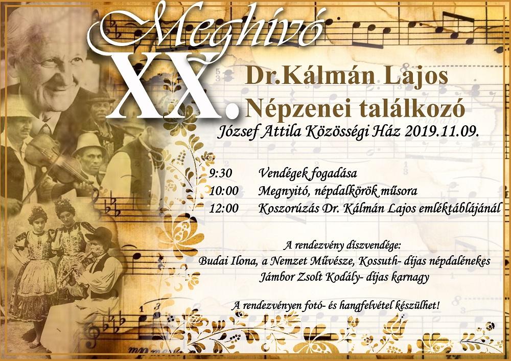Holnap emlékezünk Dr. Kálmán Lajosra