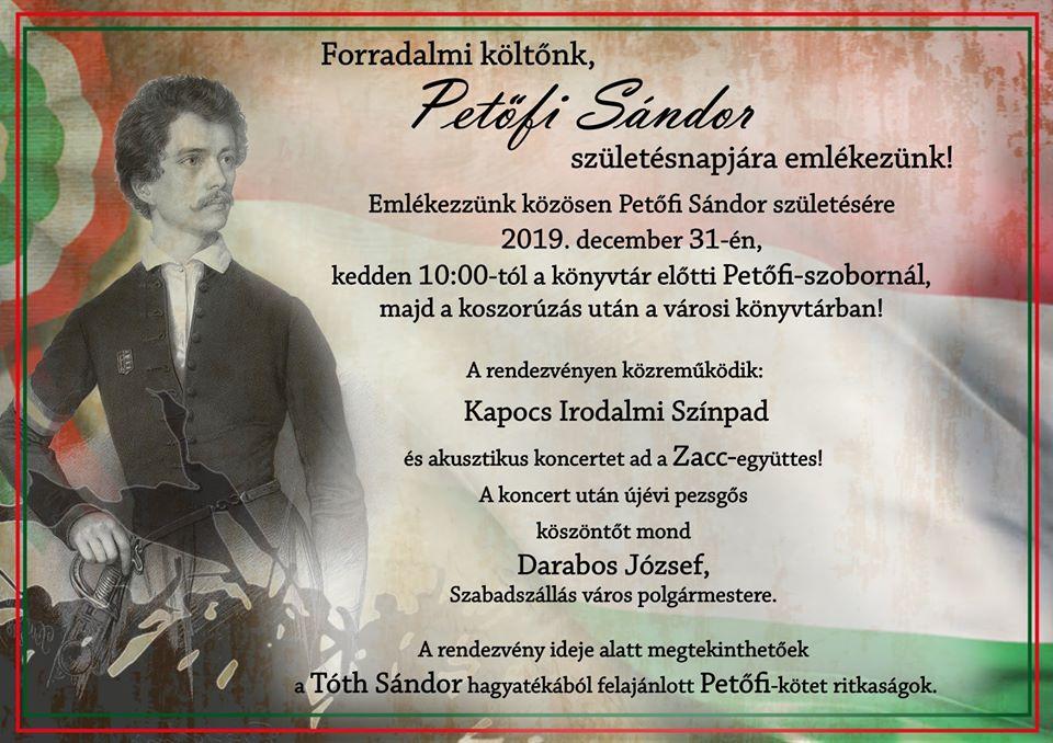 Petőfi Sándorra emlékezünk