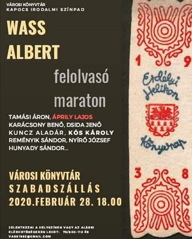 Idén is lesz Wass Albert felolvasó maraton