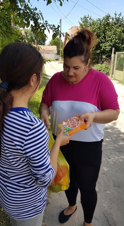 A rászoruló családoknak segítettek