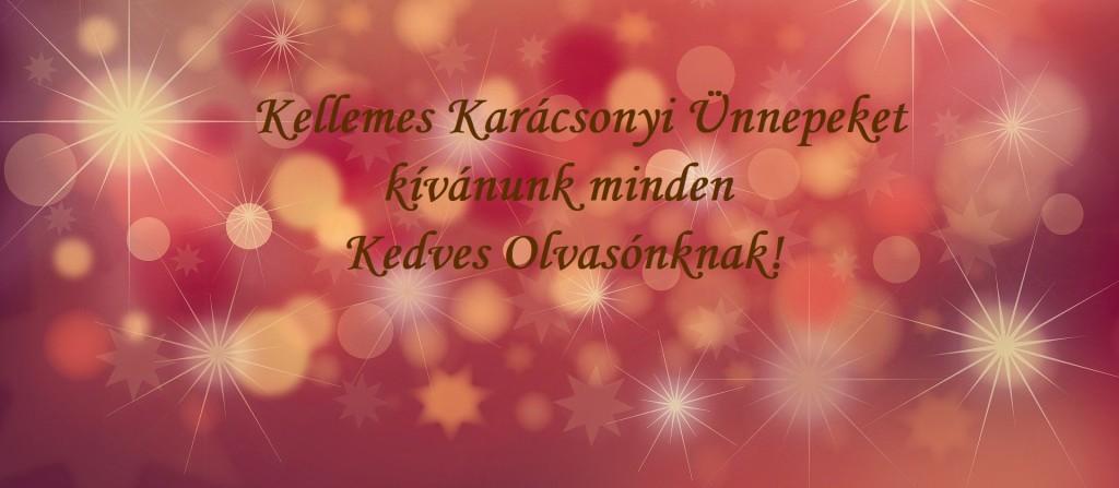 Kellemes Karácsonyi Ünnepeket kívánunk minden Kedves Olvasónknak!